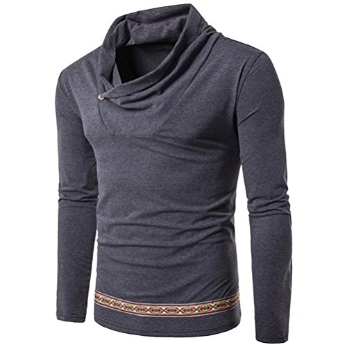 Price comparison product image Slim Fit Sweater ,BeautyVan New Fashion Mens Casual Long Sleeve Shirt Turtleneck Slim Fit sweater outwear (M, Gray)