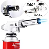 Ypres SU Professional Butane Cooking Torch for Pastries Desserts Blazing Soldering Camping Jewelry(Butane not included)