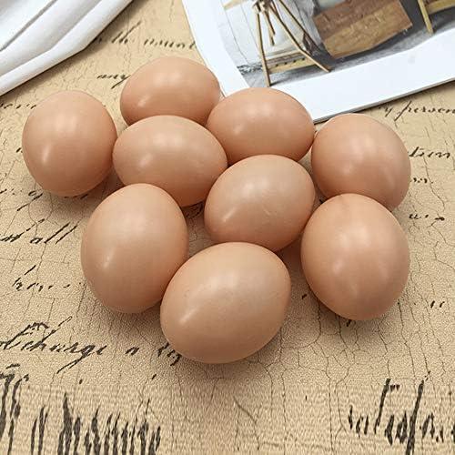 NUOBESTY 20 Piezas Huevos de Pl/ástico Huevos de Pascua Falsos Huevos de Gallina Falsos Juguete para Ni/ños Juego de Cocina Juguete de Comida Huevo de Pato para Pintura DIY Artesan/ía Relleno