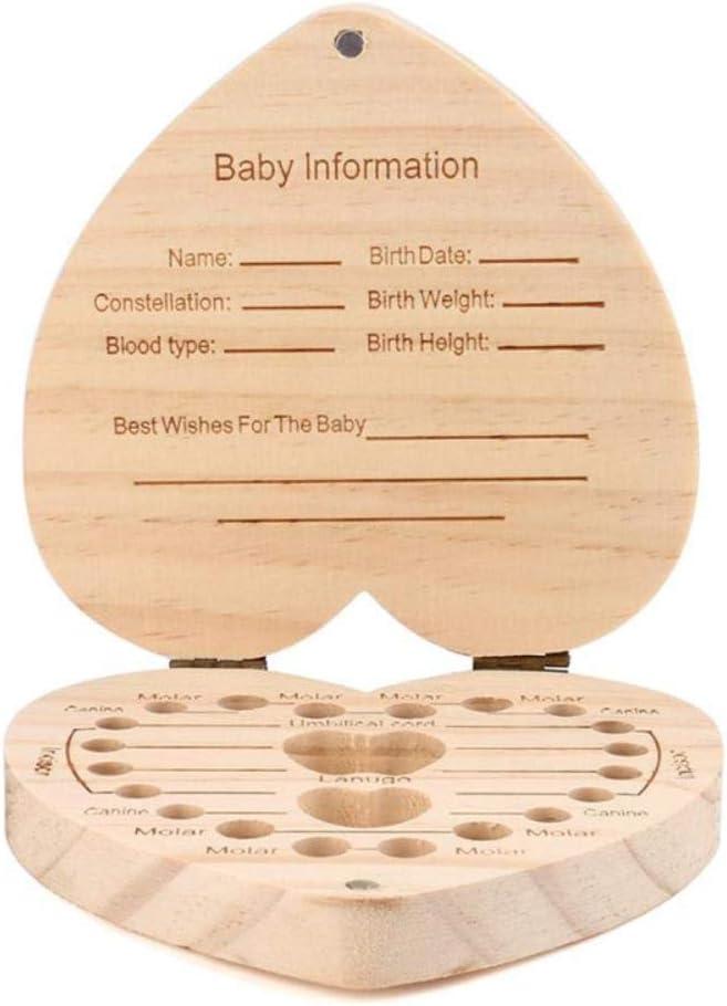 Caja organizadora para guardar dientes de leche, diseño de búho y elefante English-C: Amazon.es: Bebé