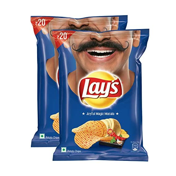 Lay's Potato Chips - Joyful Magic Masala, 52g (Pack of 2)