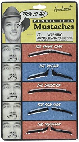 Accoutrements Pencil Thin Mustache Set]()