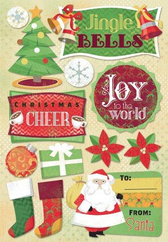 - KAREN FOSTER Design Acid and Lignin Free Scrapbooking Sticker Sheet, Jingle Bells
