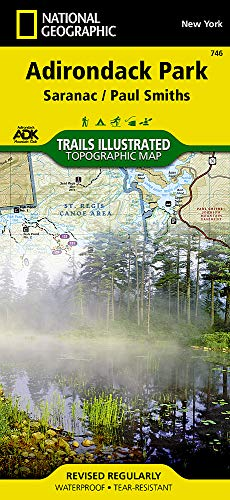 Saranac, Paul Smiths: Adirondack Park (National Geographic Trails Illustrated Map) Adirondack High Peaks Map
