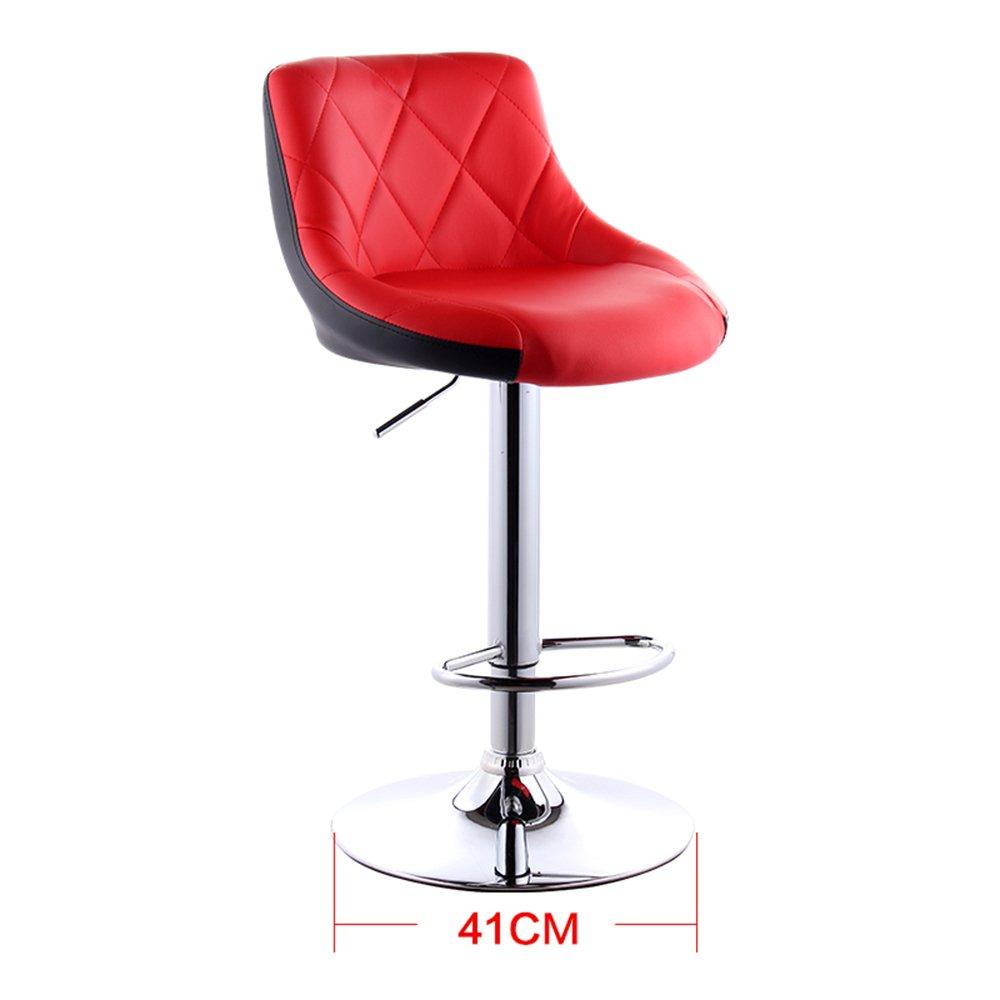 シュウクラブ@ リフト、現代的なシンプルバー、ハイスツール、バースツール、バックレストチェア、バースツール (色 : Red+black) B07CTGVWFL Red+black Red+black