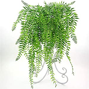 2pcs Fake Hanging Vine Artificial Ivy Plants Plastic Greenery for Home Wedding Indoor Outdoor Hanging Basket Decor 61