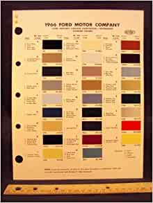 Ford Paint Colors >> 1966 FORD MOTOR COMPANY Paint Colors Chip Page: Ford Motor Company: Amazon.com: Books