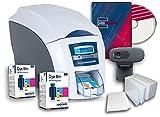 ID Card Printer - Magicard Enduro 3e Single-sided ID Card Printer & Supplies Bundle with Card Imaging Software (3633-3001)