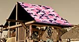 Custom Sized Pink Camouflage Replacement Tarp  Canopy for Playset: Up to 45 Sq Ft Tarp Size
