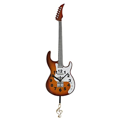 Gift Garden Reloj Colgante Clásica Guitarra Eléctrica Modelo Decorativo Reloj de Pared – Guitarra Regalos para