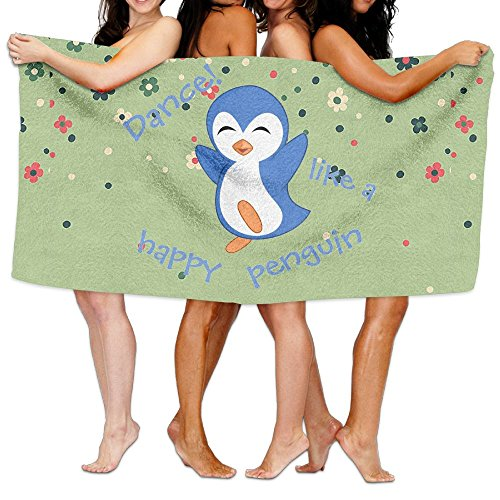 Nngsiko Dance Like A Happy Penguin Bath Towel For Swimming Pool, Gym, Beach.