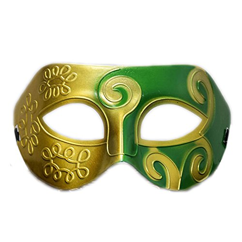 Rehoty Mens Masquerade Mask Vintage Half Face Party Mask Mardi Gras Christmas Halloween Mask -