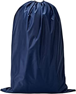 NISHEL Travel Laundry Bag, Drawsting Dirty Clothes Bag & Machine Washable, Fits Laundry Hamper or Basket, Blue