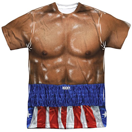 Rocky- Apollo Creed Costume (Front/Back) T-Shirt Size S -
