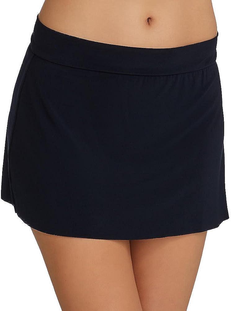 Magicsuit Womens Solid Jersey Tennis Skirt Bottom