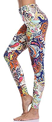 Aenlley Women's Fashion Printed Spandex Leggings - Ultra Soft Workout Legging