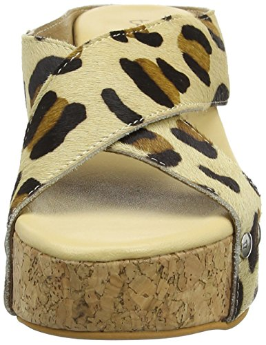 Tantra Leather Espadrille Wedge Sandals Animal Print - Sandalias para mujer Leopard