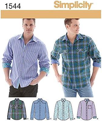 Simplicity 1544 Tamaño AA para Hombre Camisa con Variaciones de ...