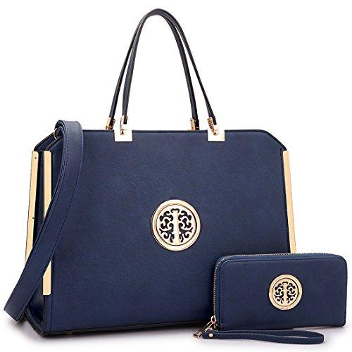 Dasein Women Handbags Top Handle Satchel Purses Structured Work Shoulder Bags Totes for 13