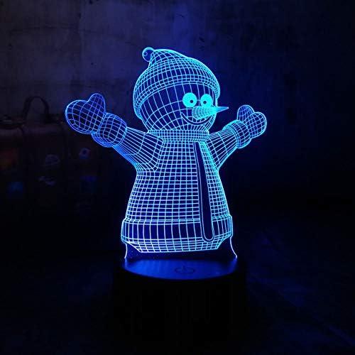 Novedad Serie De Navidad 3D Lámpara Led Papá Noel Muñeco De Nieve Regalo De Árbol De Navidad Luz Nocturna Rgb Decoración De Navidad Juguetes Para Niños: Amazon.es: Iluminación