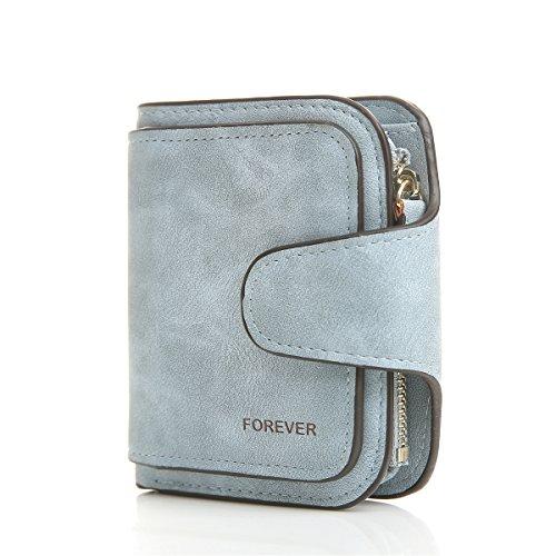 Women Short Wallet Leather Small Minimalism Zipper Card Holder Purse