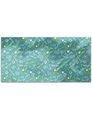 Love Confession Rectangle Tablecloth Large Dining Room Kitchen Woven Polyester Custom Print