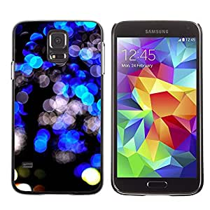 TopCaseStore Rubber Case Hard Cover Protection Skin for SAMSUNG GALAXY S5 - black bright lights vibrant night city