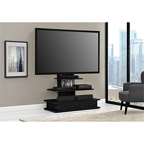 Ameriwood Home Galaxy Tv Stand With Mount And Drawers For