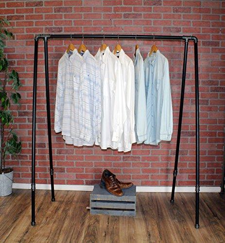 - Industrial Style Pipe Garment Rack by William Robert's Vintage
