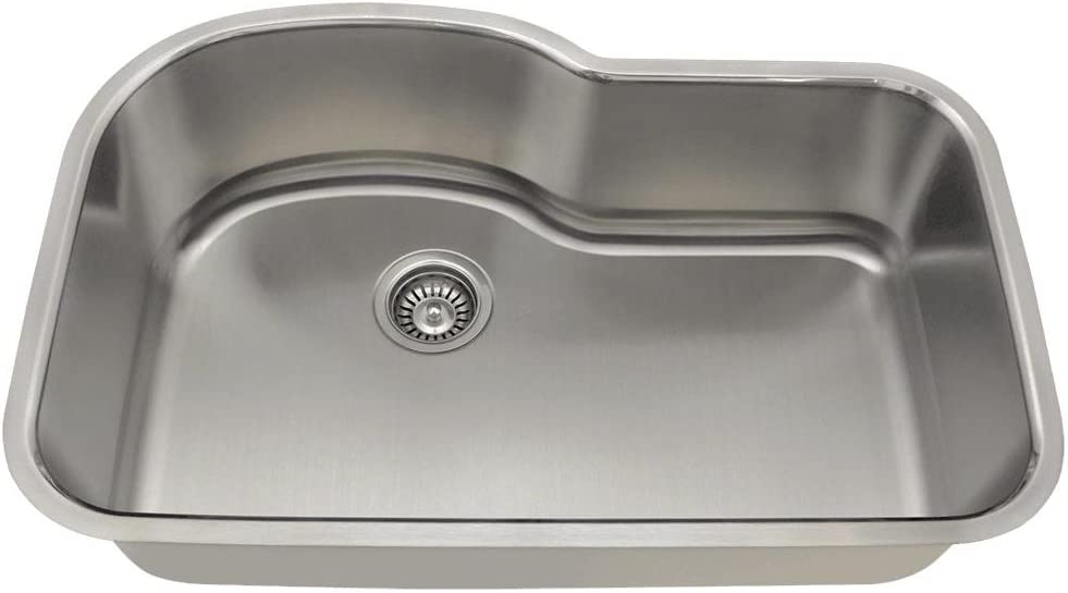 346 16 Gauge Undermount Offset Single Bowl Stainless Steel Kitchen Sink Amazon Com