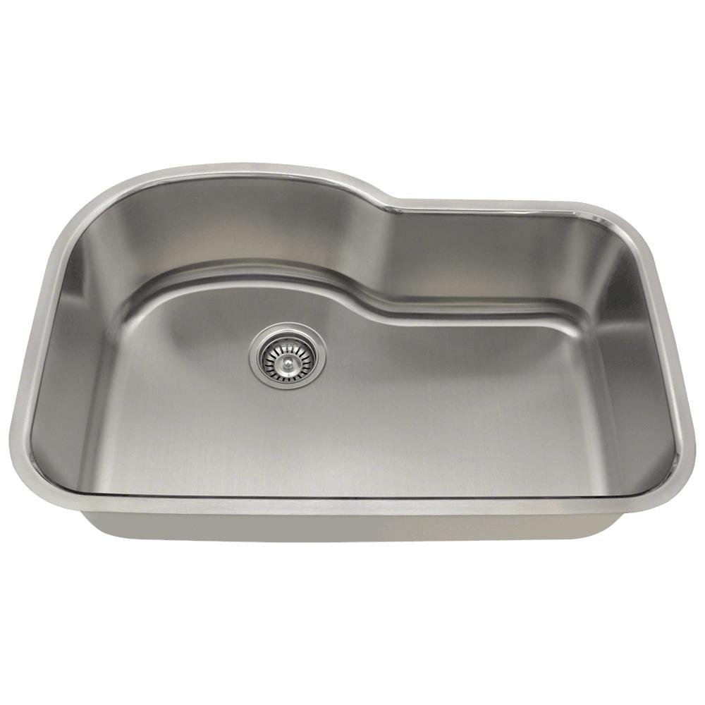 346 16 Gauge Undermount Offset Single Bowl Stainless Steel Kitchen Sink      Amazon.com