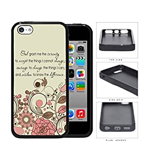 God Serenity Courage Quote With Pink Floral Pattern Rubber Silicone TPU Cell Phone Case Apple iPhone 5c