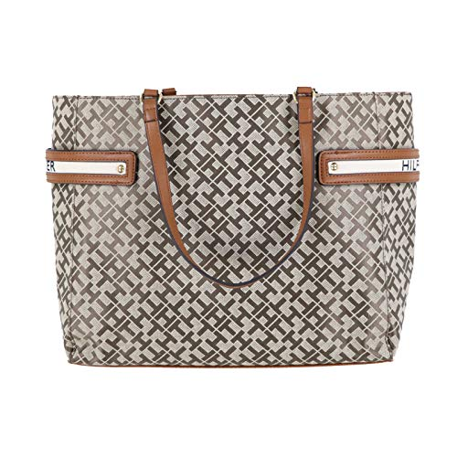 Tommy Hilfiger Womens Everyday Tote Purse (Beige)