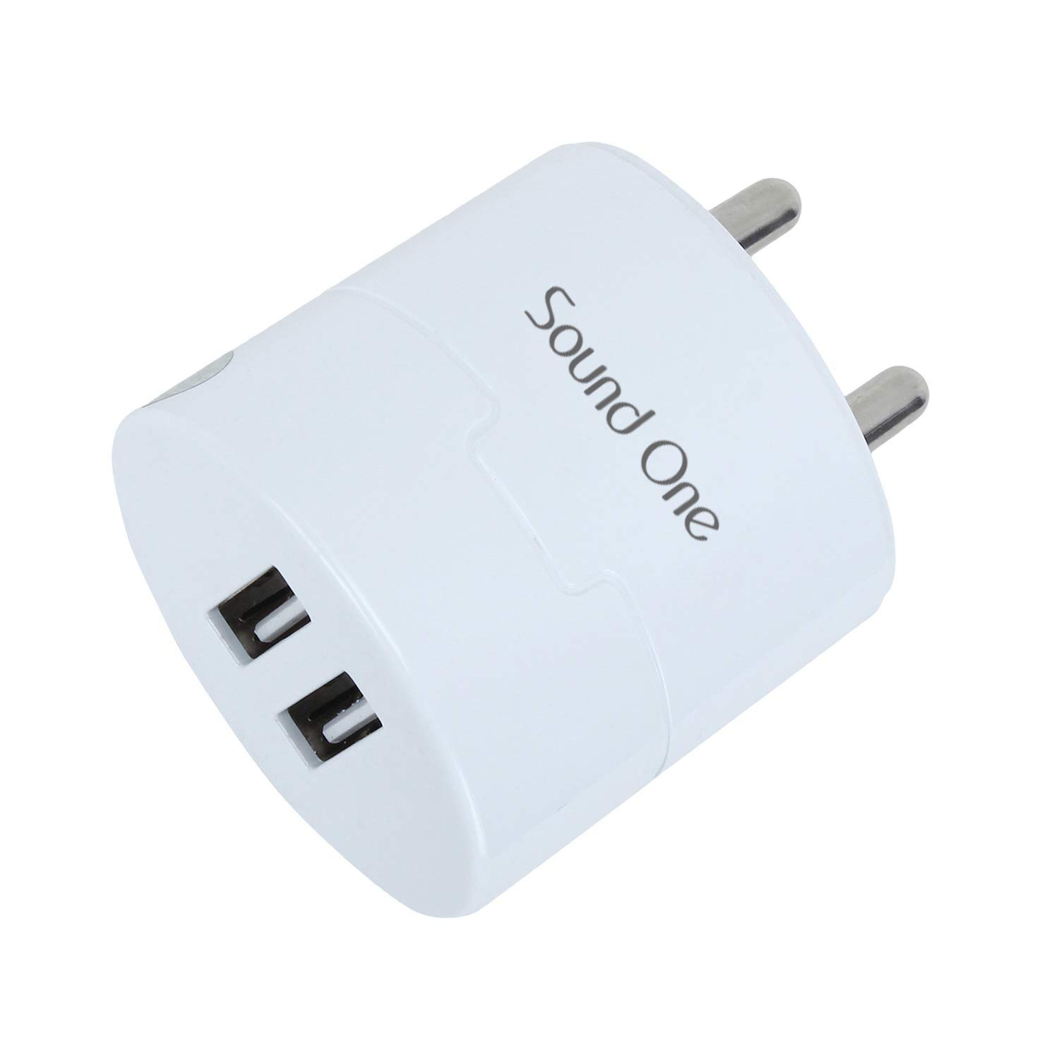 Sound One SO-DWC-600 2.4A Dual Port Smart Wall Charger (White)