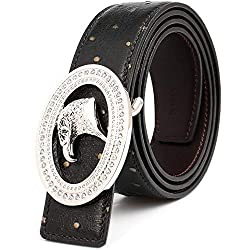 Deerskin Belts With Stainless Steel Diamond Buckle
