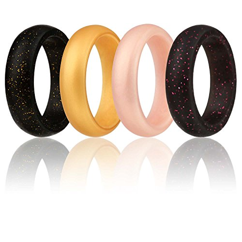 size 5 silicone wedding ring women rubber band gym gold. Black Bedroom Furniture Sets. Home Design Ideas