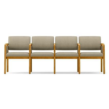 Amazon.com : One Set, Lenox Panel Arm Four Seat Fabric Sofa ...