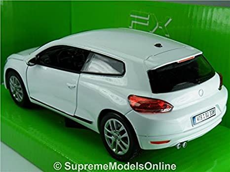 WELLY VW VOLKSWAGEN SCIROCCO BLUE 1:24 DIE CAST METAL MODEL NEW IN BOX 17cm LONG