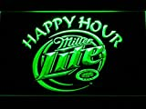 Miller Lite Happy Hour Beer Bar LED Neon Light Sign Man Cave 605-B