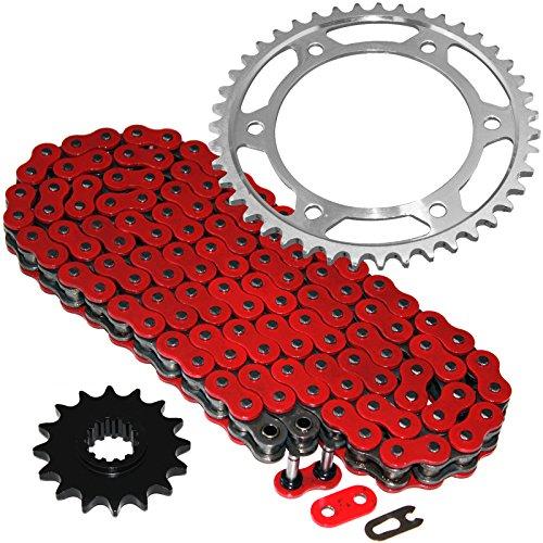 Caltric Red O-Ring Drive Chain & Sprockets Kit Fits HONDA 600RR CBR600RR CBR-600RR ()