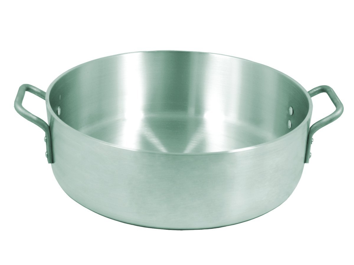 Update International ABR-24 24-Quart Aluminum Brazier, Silver UPABR24