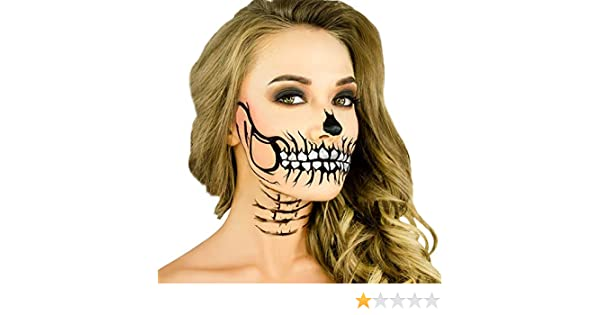 Amazon.com: Woochie Stencil Kit - Professional Quality Halloween Costume Makeup - Glitter Skull: Toys & Games