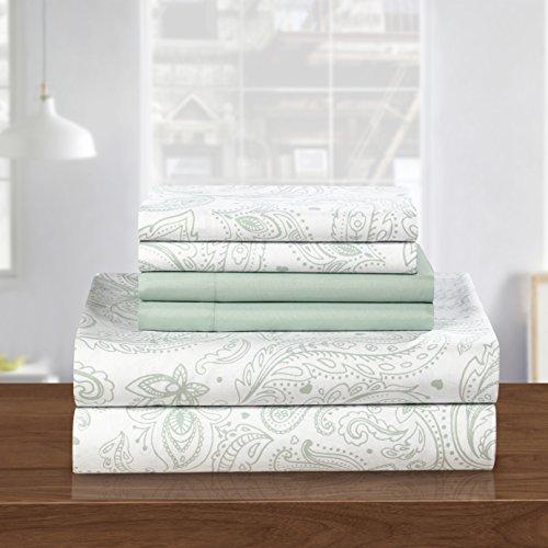 Chic Home Welford Sheet Set, Queen, Green, 6 Piece