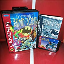 The adventures of Batman and Robin US Cover with Box and Manual For Sega Megadrive Genesis Video Game Console 16 bit MD card - Sega Genniess - Sega Ninento, 16 bit MD Game Card For Sega Mega
