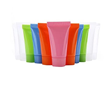 8a825090ba84 20PCS 15ml Clear Empty Refillable Plastic Soft Tubes Bottle Packing ...
