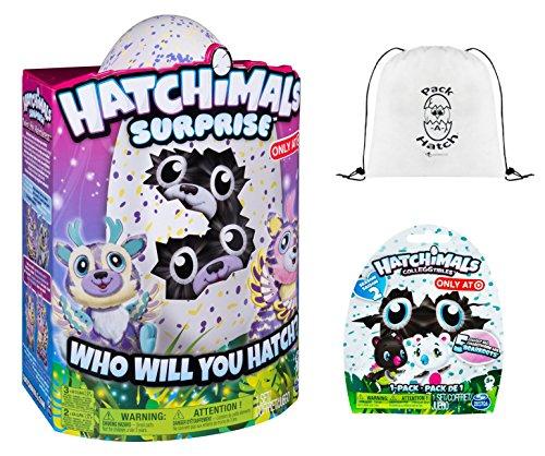 Hatchimals Surprise Deeriole   Colleggtibles Blind Bag  Season 2    Pack A Hatch Cinch Backpack Combo