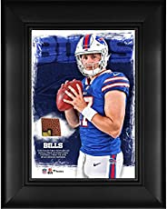 """Josh Allen Buffalo Bills Framed 5"""" x 7"""" Player Collage with a Piece of Event-Used Football - NFL Pla"""
