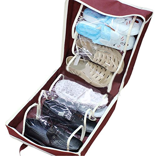 JPJ(TM) Storage Bag❤️1Pcs Hot Fashion Portable Shoes Travel Storage Bag Organizer Tote Luggage Carry Pouch Holder (Wine)