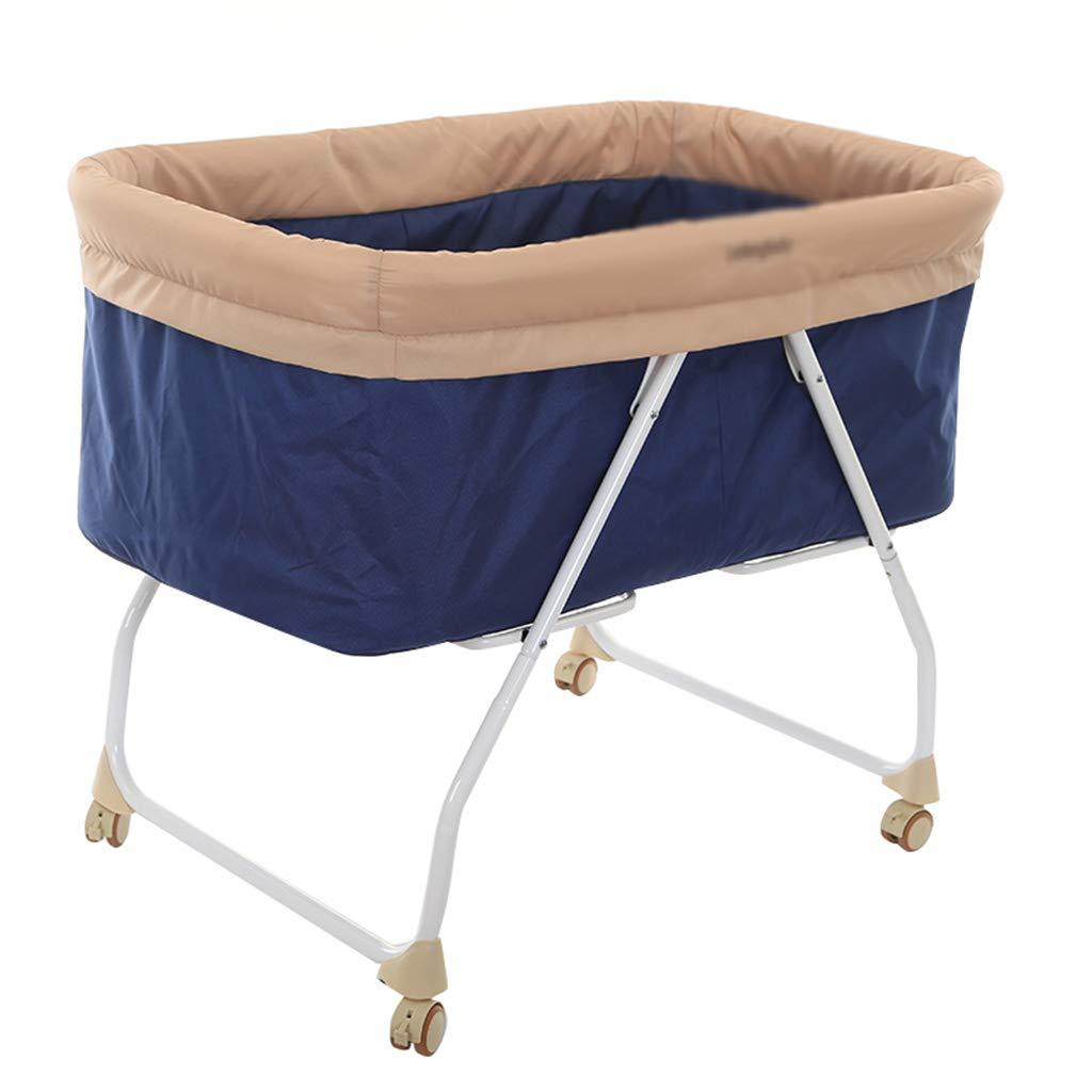 多機能の旅行ベッド、ローラーの揺りかごのベッドの携帯用蚊帳のベビーベッド、96 * 58 * 75CMと折り畳み式 (色 : C)  C B07MR13Y4N