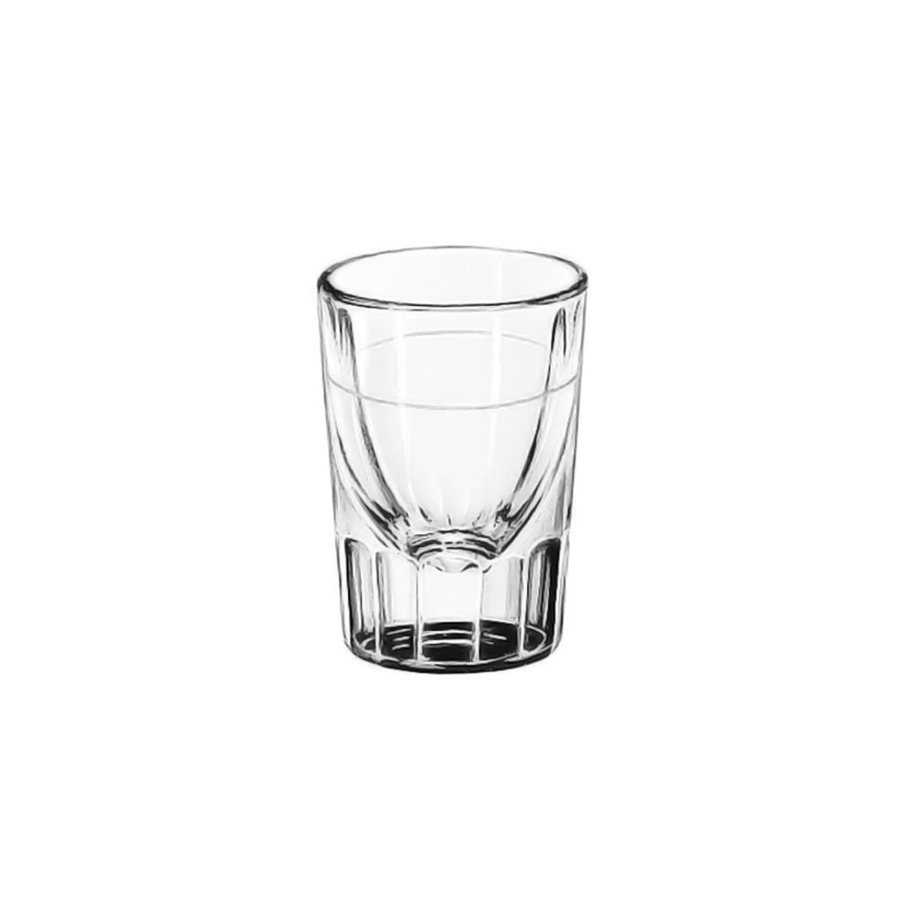 Libbey 5127/S0710 Lined Fluted 1.5 Ounce Shot Glass - 48 / CS